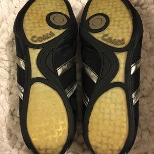 Coach Shoes - Coach black/silver Snickers. 8.5